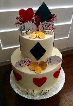 Vegas themed Happy Birthday Cake
