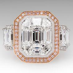 Simon G Mosaic Collection Diamond Engagement Ring 18K Antique Diamond Rings, Antique Engagement Rings, Diamond Engagement Rings, Affordable Diamond Rings, Jewelry Clasps, Jewlery, Bridal Ring Sets, Jewelry Design, Designer Jewelry