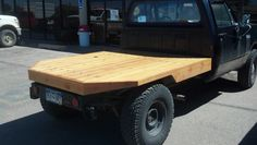 Wooden truck flatbed