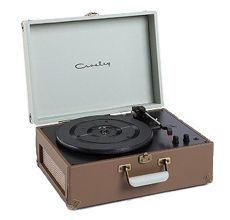 a record player. Every teegager had one in the 1950s to play their 45's on.