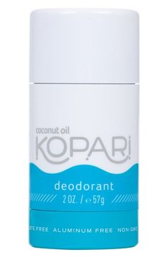 Free shipping and returns on Kopari Coconut Deodorant at Nordstrom.com. What it is: An aluminum-free deodorant.What it does: It contains sage oil, which helps aid in sweat- and odor-reduction for up to 24 hours, and coconut oil, which repairs skin and moisturizes.How to use: Apply to underarms daily.
