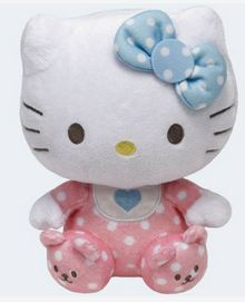 ce907f3810c Ty Hello Kitty Pink Baby Rattle Cat by Sanrio Beanie Babies Stuffed Plush  Toy