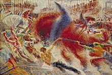 "Umberto Boccioni (1882 - 1916), ""The City Rises"", 1910."