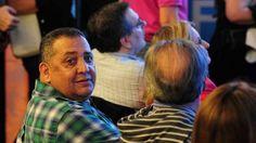 El dirigente kirchnerista Luis D'Elía en el búnker del FPV por las PASO. (Juan Manuel Foglia)