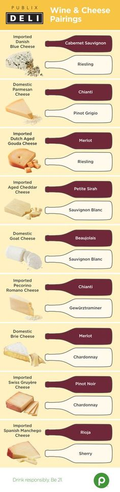 Swiss Gruyère? Domestic Brie? Beaujolais? Chianti? So many cheeses. So many wines. Is your head spinning yet? Not to worry—Publix is here to play matchmaker for these classic tastes.
