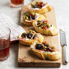 Olive-Cherry Bruschetta From Better Homes and Gardens, ideas and improvement projects for your home and garden plus recipes and entertaining ideas.