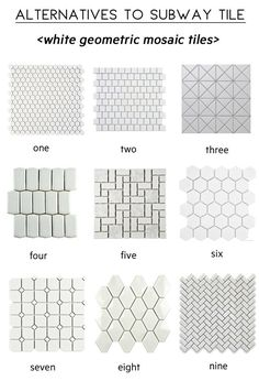alternatives to subway tile, white mosaic tile