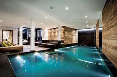 Swimming indoors