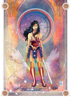 Wonder Woman - Liberty taste , Leo Colapietro on ArtStation at https://www.artstation.com/artwork/4LQz1