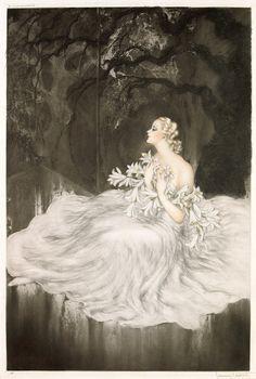 hoodoothatvoodoo:    Lillies  Louis Icart  1934