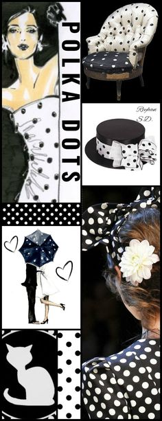'' Polka Dots - Black & White '' by Reyhan S.D.