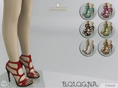 The Sims Resource: Madlen Bologna Shoes by MJ95 • Sims 4 Downloads