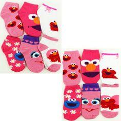 Sesame Street Infant Toddler 6 pk Ankle Socks (12-24M) Sesame Street http://www.amazon.com/dp/B00KAGH1Q0/ref=cm_sw_r_pi_dp_CekJtb18CYH8PXEK