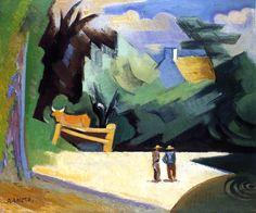 "lilacsinthedooryard: ""Andre Lhote Banks of the River, c 1911 """