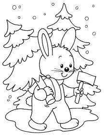 Zimní Básničky | Předškoláci - omalovánky, pracovní listy