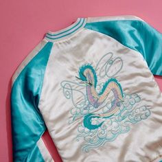 Once you do something, you never forget // Studio Ghibli Her Universe Spirited Away Haku Satin Bomber Jacket