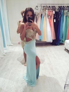 Sweetheart Sexy Backless Lace Prom Dresses Mermaid Evening Dress