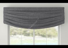 Contemporary Window Valance Cornice by SewDecor on Etsy