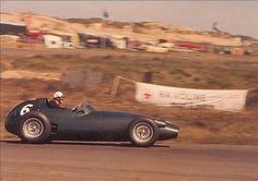 Harry Schell flogging his BRM P25 around Zandvoort in 1959