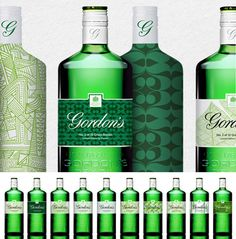 For you Thayaa .10 green bottle designs - Gordon's gin and Conran. Love these different interpretations PD