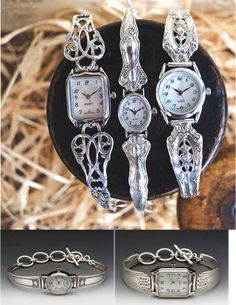 Watches from Silver Spoon Jewelry Silver Spoon Jewelry, Fork Jewelry, Silverware Jewelry, Silver Spoons, Metal Jewelry, Beaded Jewelry, Vintage Jewelry, Handmade Jewelry, Cutlery