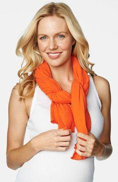 Women's Maternal America Nursing Scarf - Orange