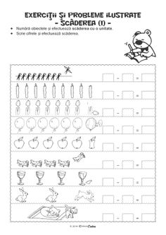Fise de Lucru - Editura Caba - Carti, caiete de lucru, materiale didactice Math For Kids, Mathematics, Coloring Books, Printables, Teaching, Activities, School, Preschool Math, Vintage Coloring Books