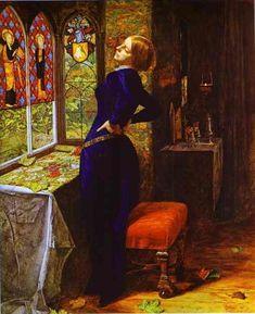 Mariana-Millais  Mariana-Alfred Lord Tennyson