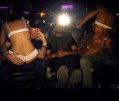 The weeknd Abel Tesfaye chillen at a strip club