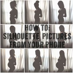 How To: Silhouette Bump Pregnancy Tracker from Your Phone