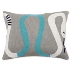 Brasilia Snake Wool Throw Pillow