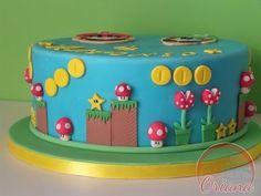 Bolo Do Mario, Bolo Super Mario, Mario Bros., Mario Party, Super Mario Bros, Mario Bros Y Luigi, Mario Bros Cake, Mario Brothers, Mario Birthday Cake