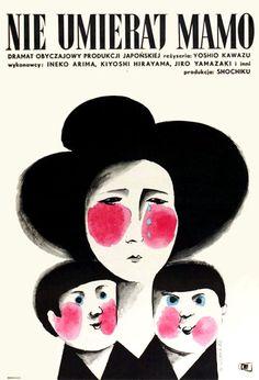 Vintage Polish movie poster 1962 by Wiktor Gorka : Nie umieraj mamo