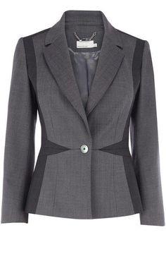 Karen Millen Grey Fashion Suit Jacket discovered on Fantasy Shopper Suit Fashion, Grey Fashion, Fashion Outfits, Fashion Design, Gray Jacket, Jacket Style, Suit Jacket, Suits For Women, Clothes For Women