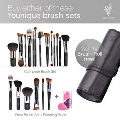 This month is a great time to stock up on makeup brushes! 🖌 Buy either one of these brush sets then you'll get a FREE brush roll to store them all in. 🎁 Learn more about the free gift in the link in our profile.