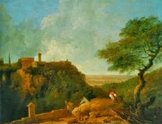 Tivoli: Temple of the Sibyl and the Campagna by Richard Wilson 1752 Welsh landscape painter from the village of Penegoes Richard Wilson, 18th Century, Art History, Landscape Paintings, Art Decor, Magazine, August 2014, Britain, Temple