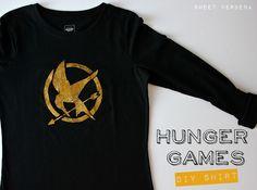 Hunger games DIY shirt.