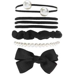 Forever21 Faux Pearl Hair Tie Set (54 MXN) ❤ liked on Polyvore featuring accessories, hair accessories, elastic hair ties, forever 21 hair accessories, ponytail hair ties and forever 21
