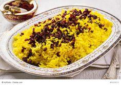 Zereschk polo (Reis mit Berberitzen)