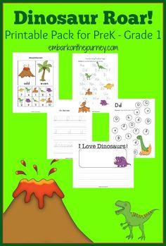 FREE Dinosaur Printable Pack!