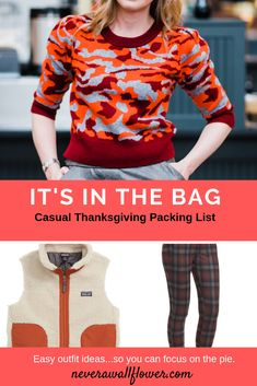 8ab39d7c5f7cd Casual Thanksgiving packing list from Never A Wallflower.com. Women s  fashions Capsule wardrobe