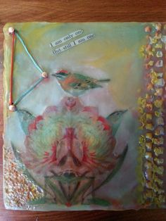 """Encaustic mixed media painting """"I am only one"""""""