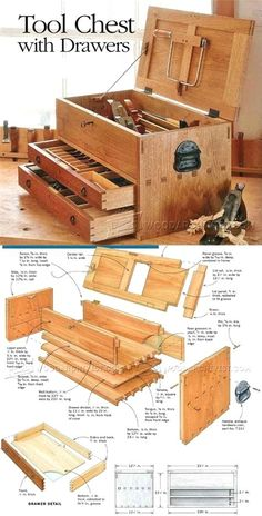 Tool Chest Plans - Workshop Solutions Projects, Tips and Tricks - Woodwork, Woodworking, Woodworking Tips, Woodworking Techniques Woodworking For Kids, Easy Woodworking Projects, Popular Woodworking, Woodworking Jigs, Woodworking Furniture, Diy Wood Projects, Woodworking Classes, Woodworking Beginner, Youtube Woodworking