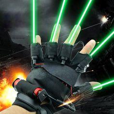 LED-Licht-Laserhandschuhe Mit verschiedenen Farben von LED-Leuchten und Brilliant Laser,Sehr hell.Das Handschuh Häufig verwendete in Konzert,Club,Bar,Disko,Nachtclubs,Etc. Natürlich,tragen sie es,Sie können Werden Sie Iron Man.