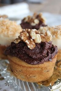 Dairy free date and coconut cakes
