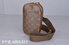 Authentic Louis Vuitton Monogram Pochette Gange Shoulder Bag M51870