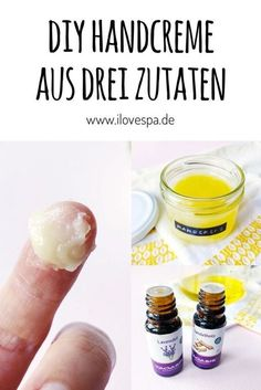 DIY hand cream with only 3 ingredients with lavender sandalwood DIY Handcreme aus nur 3 Zutaten mit Lavendel Sandelholz Duft Lavender hand cream DIY – natural cosmetics make your own hand cream from just 3 ingredients it Yourself - Beauty Care, Diy Beauty, Beauty Hacks, Make Your Own Makeup, Natural Hair Mask, Baking Soda Uses, Beauty Tips For Face, Face Tips, Manicure E Pedicure