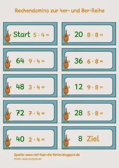 Rechendomino zur 4er und 8er-Reihe Education Quotes For Teachers, Quotes For Students, Quotes For Kids, Dolch Sight Words, Math Multiplication, Sight Word Activities, Student Teaching, Teaching Tips, Elementary Science