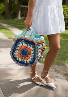 knit multicolor bag