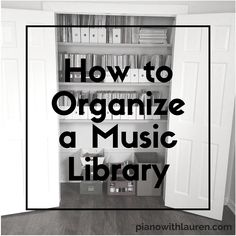 Music teachers accumulate a lot of sheet music and books. Read more for a simple way to organize your music library.